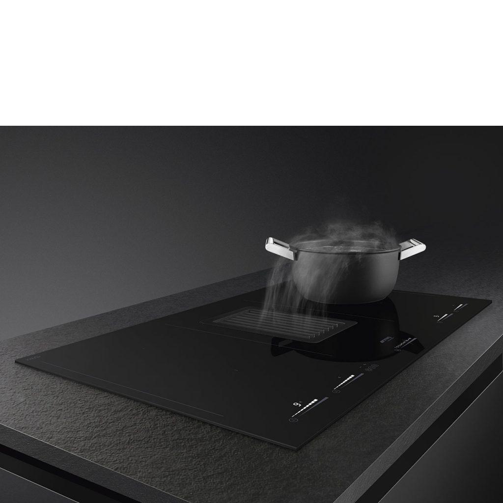 Smeg kookplaat met afzuiging HOBD682D