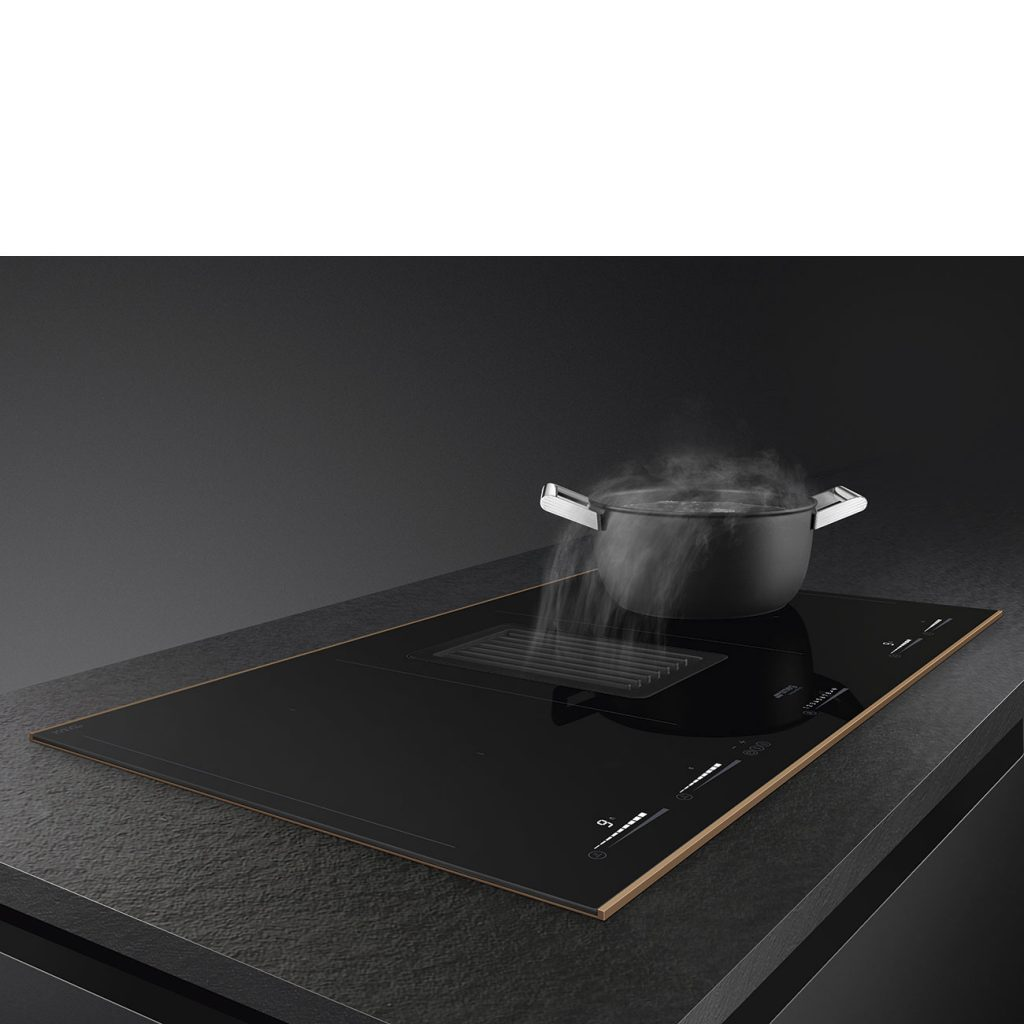 Smeg kookplaat met afzuiging HOBD682R